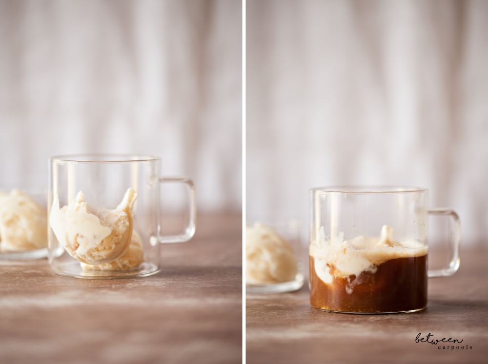 The Affogato. A scoop or two of ice cream, a shot of Nespresso—affogato is a not so guilt-free treat.