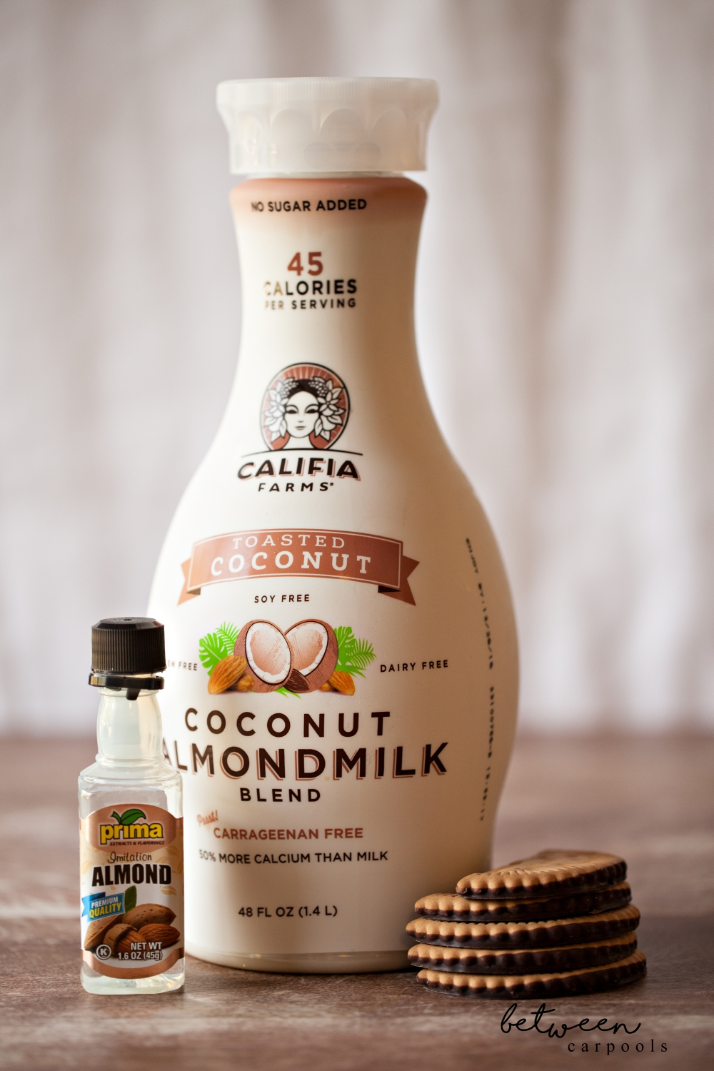 This coconut almond milk blend goes really well in an iced coffee or slushie when you can't have milk.