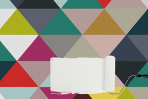 DIY: How to Paint a Triangle Wall – Playroom Makeover
