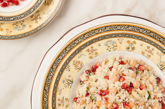 Rosh Hashanah Couscous Pomegranate Salad recipe