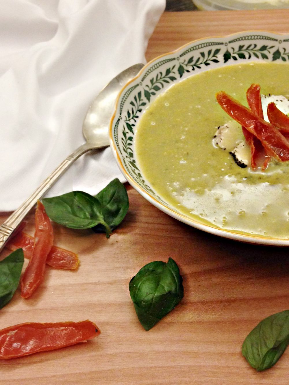 Make dairy night super special with Sweet Pea Basil Soup