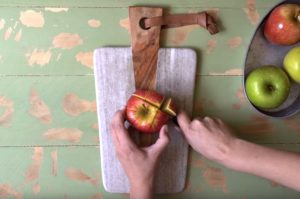 The Best Way to Cut an Apple for School Snack