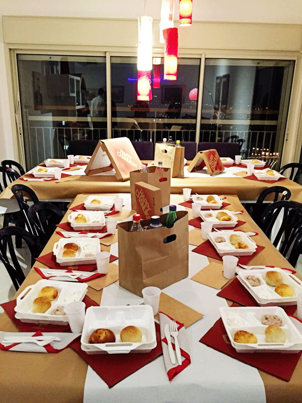 Takeout themed Party. Try this for your next Hannukah party!