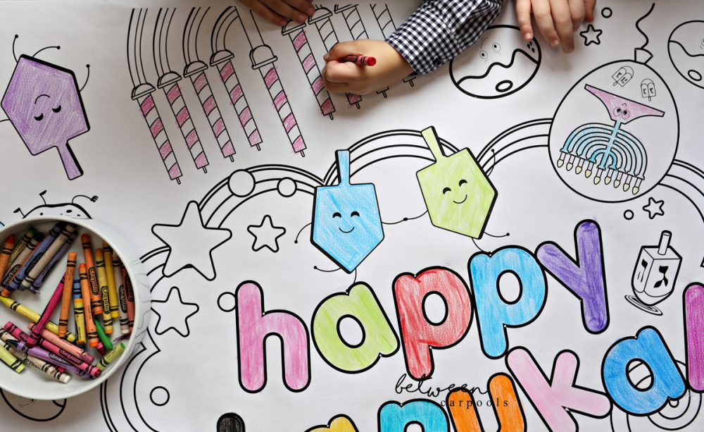 Color your Chanukah Tablecloth. Chanukah Printable Tablecloth. Your Chanukah party entertainment is done! Stock up on crayons and the kids will be busy all evening long