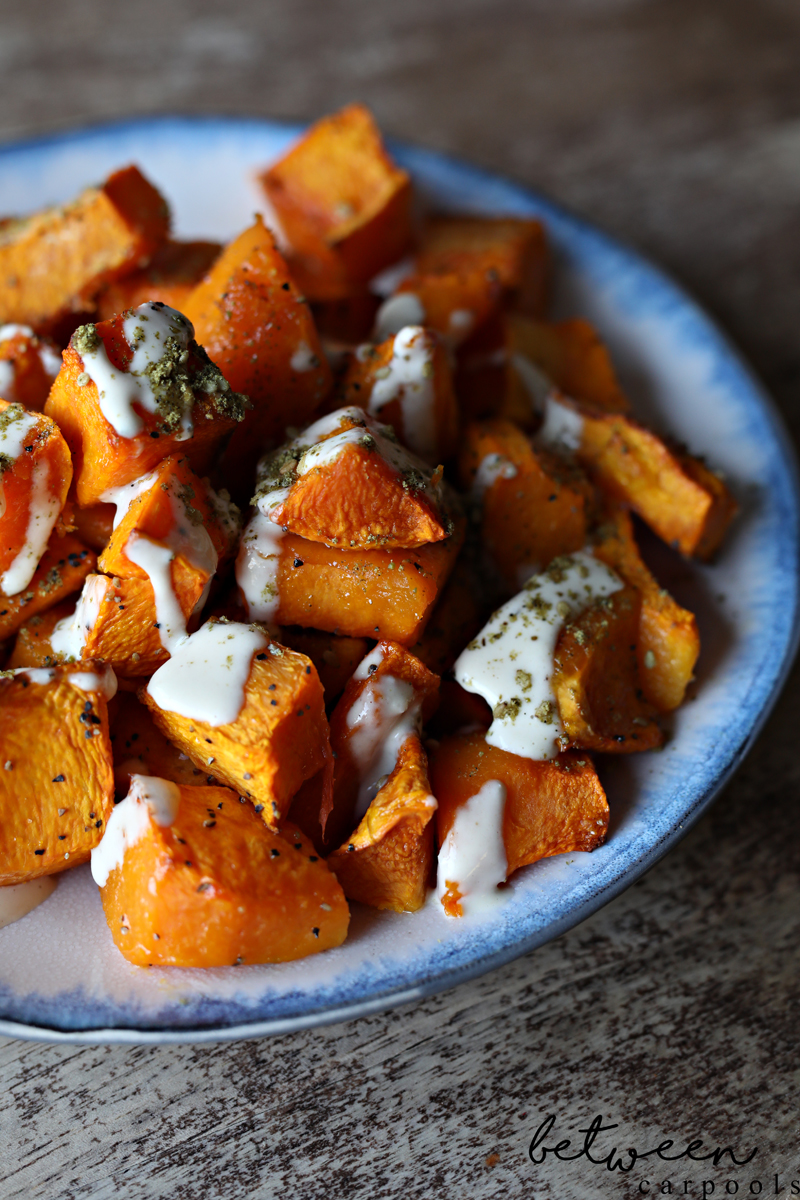 Two-Ingredient Side Dishes: Butternut Squash with Techina and Za'atar.  Butternut squash Techina. These are the side dishes you'll make the most often in the least amount of time.