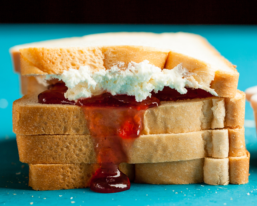 Cooking in a Hotel Room? 9 Ways to Use Your Sandwich Maker - Kosher Cream Cheese and Strawberry Jam Toast using a Sandwich Maker