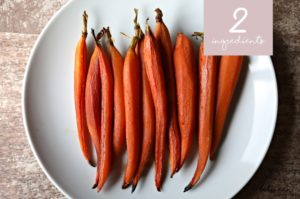 Two-Ingredient Side Dishes: Balsamic Roasted Carrots