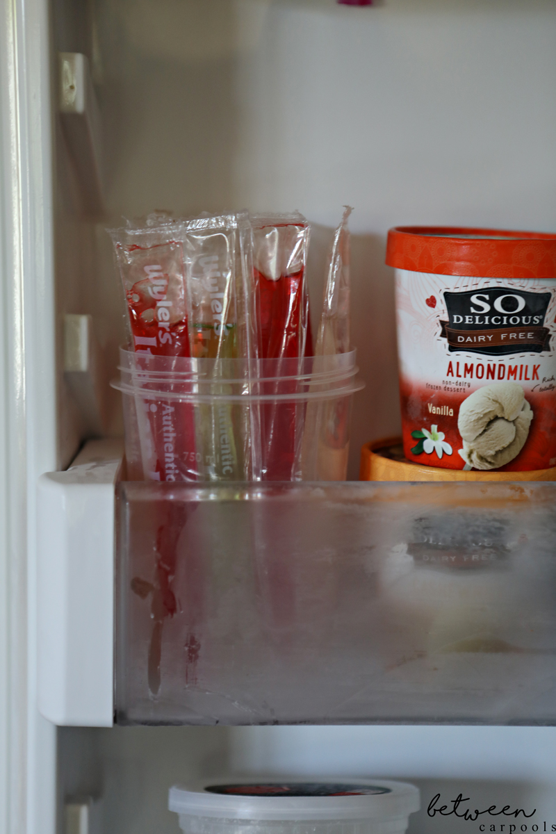 defrosted freeze pops in freezer