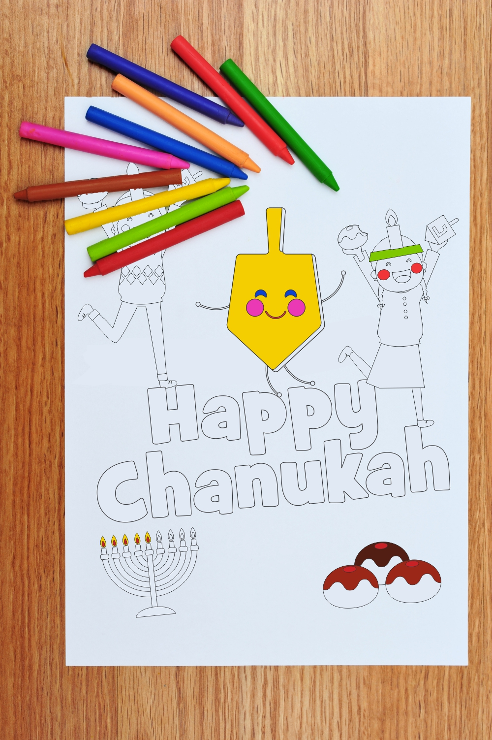chanukah coloring page download