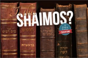 Do You Always Wonder What's Shaimos and What's Not? Here's a Handy Guide.