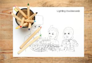 Shpielmans Free Download Chanukah Coloring pages. Hanukkah Coloring Pages