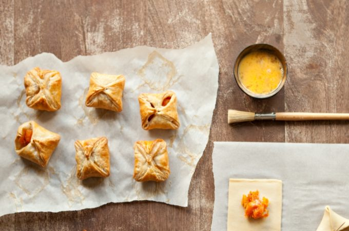 If You Make One Dish with Fruit This Tu B'Shvat, Make These Fruit-Filled Envelopes. Because warm fruit inside a sheet of flaky pastry is not something you should miss this Tu B'Shvat