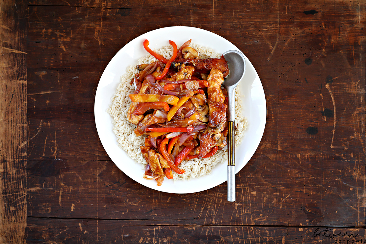Your New Easy Dinner: Glazed Chicken Strips and Easy Oven Basmati Rice