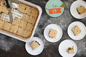 No Mixer Pesach Chocolate Chip Squares (Mix 'Em Right in the Pan)