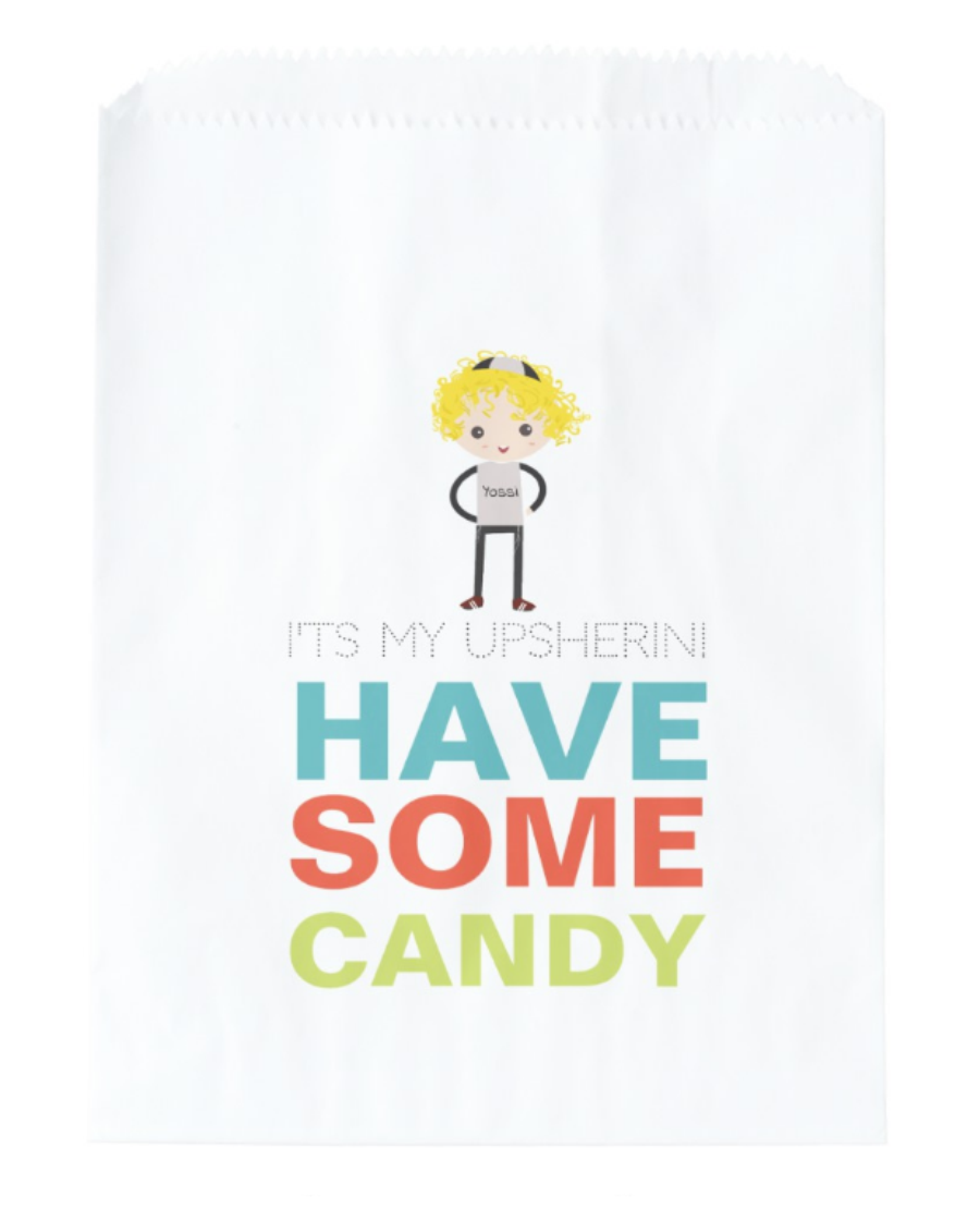 Your Personalized Upsherin Bags Napkins And Invites Are Here