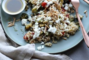 Salad Sundays: Quinoa Salad with Roasted Veggies and Feta