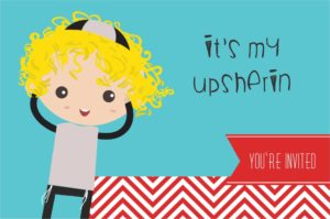 Your Personalized Upsherin Bags, Napkins, and Invites Are Here!
