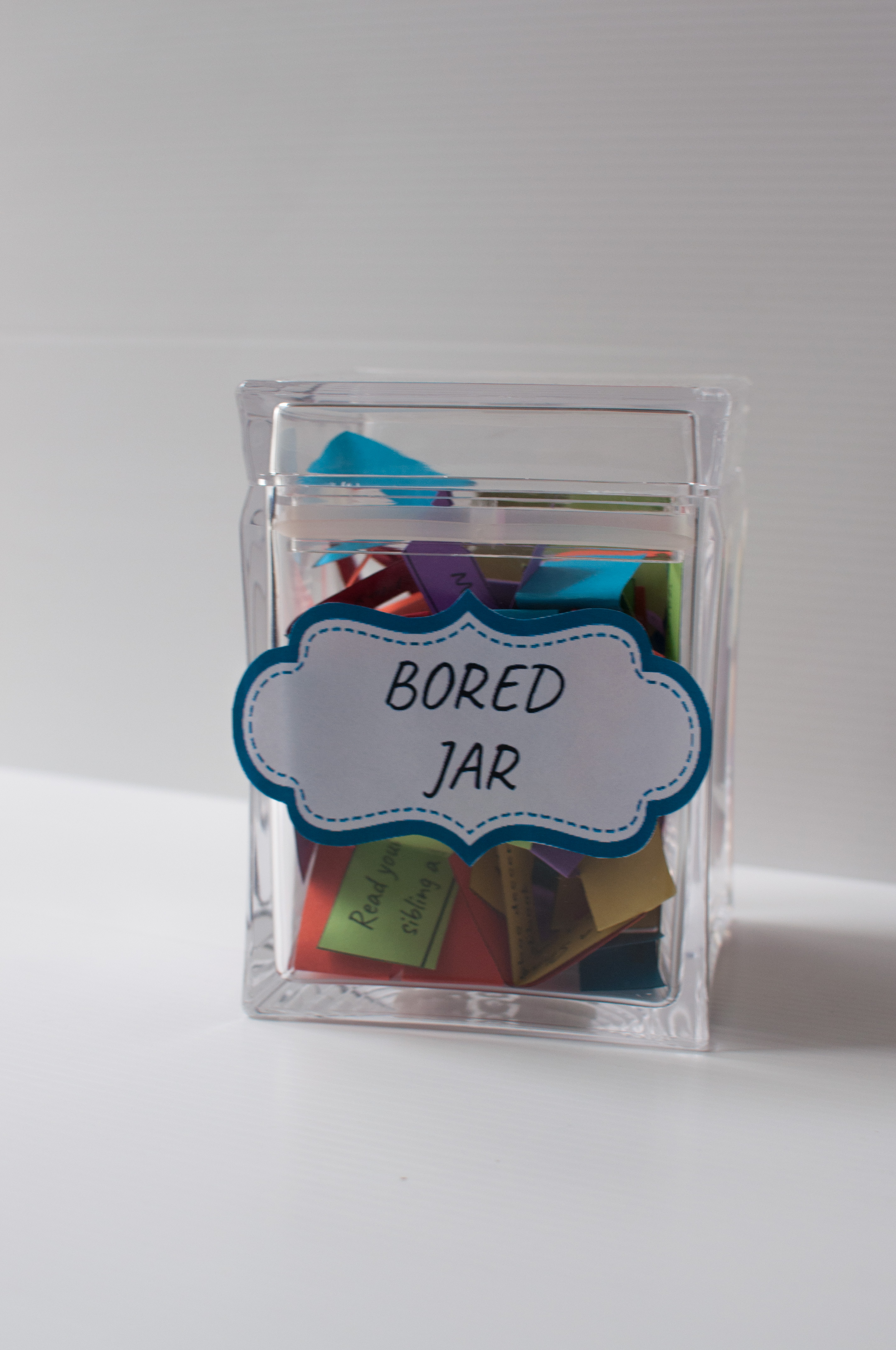 "What's a Bored Jar? Here's Why You Need One for Your Kids. There isn't a mom that doesn't hear, ""Ma, I'm bored…"" at least multiple times a day. You can make the 'Bored Jar' a solution for your child or family."