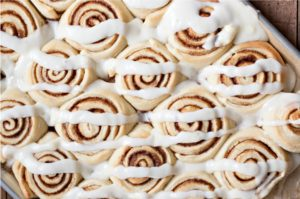 The Best Dairy Cinnamon Buns with Cream Cheese Frosting
