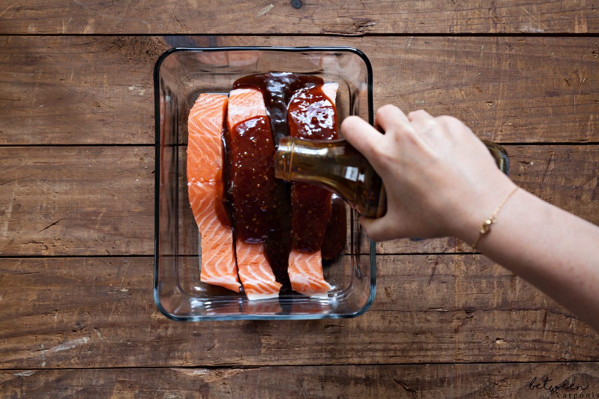 salmon with dill salad