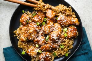 General Tso's Chicken with Ramen: Make It On the Stove or in a Crock-Pot!