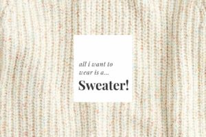 All I Want to Wear is A…Sweater! 14 We Absolutely Love (Bonus: They're on Sale).