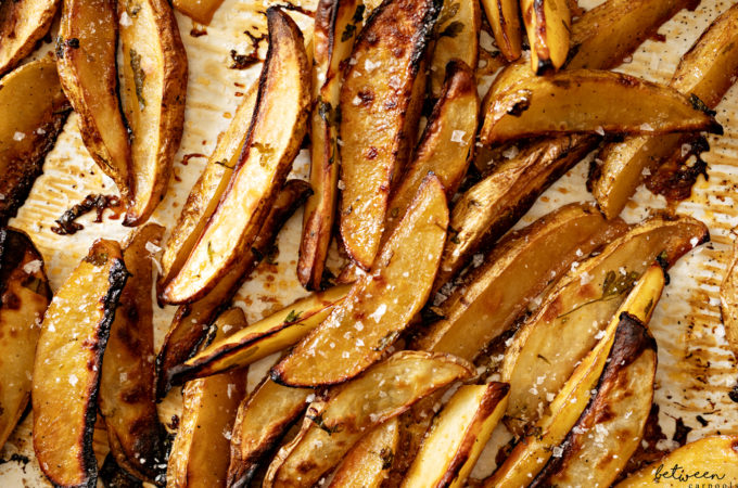 sticky maple potatoes