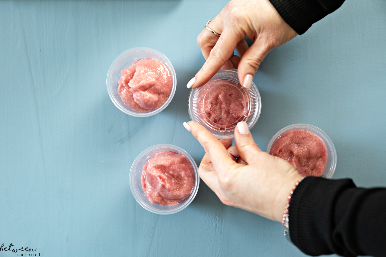This Grape Juice Sorbet is Our Favorite Pesach Treat. Make a batch and freeze it in tiny containers. No scooping or sticky hands necessary!
