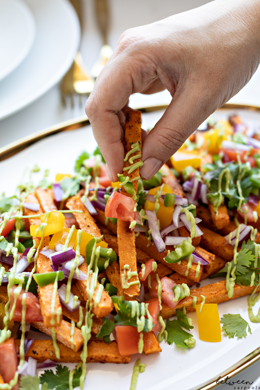 Need Sides, Right? These *Gorgeous* Sweet Potato Nachos are It. Could a potato side dish possible be colorful, beautiful, and so fun to eat? Well, yes.