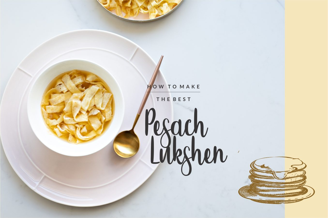 Basics: How To Make Pesach Lukshen (aka Egg Noodles). Use this lukshen recipe for your blintzes and crepes as well.