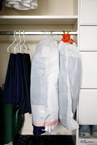travel garbage bag hacks