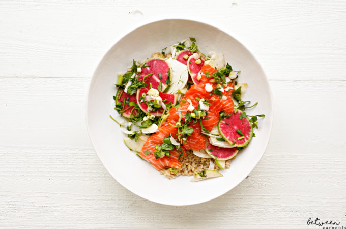 How to Prepare the Most Gorgeous Ever Salmon Crudo Salad
