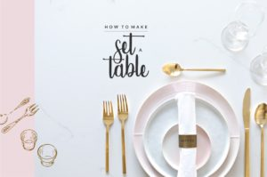 Basics: How to Set a Table