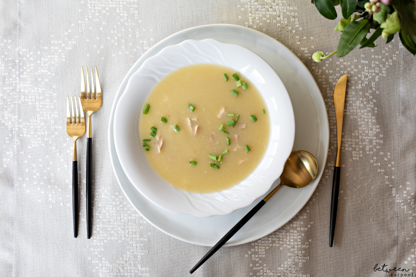Haven't you always wanted a recipe for a good cream of chicken soup? No need to wait any longer...this is the soup everyone in the family just loves.