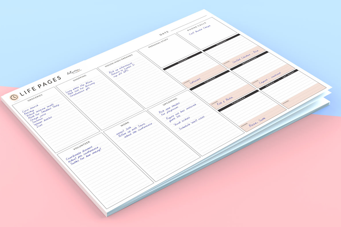 planner notepad