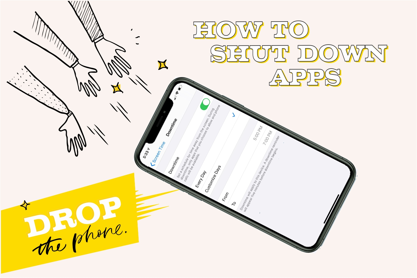 "How to Shut Down Apps So You Can Really ""Drop the Phone"""