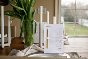 This Printed Menu is That Finishing Touch To Any Party