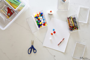 The Best Ever Solution for Storing Crayons, Markers, and Crafts