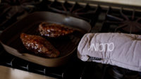 Never Touch A Hot Pan Again!  It's so easy to forget when the handle is hot. This  is a great way to remind yourself.