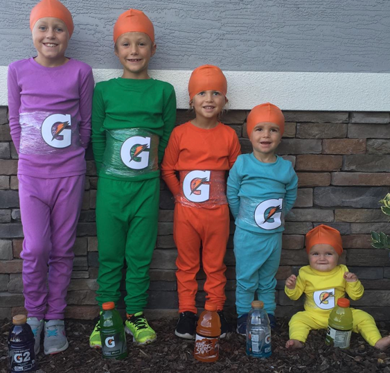 diy purim costume gatorade