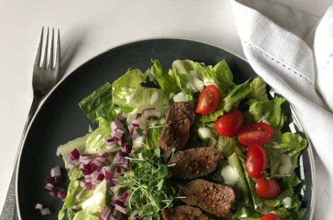 oyster steak salad