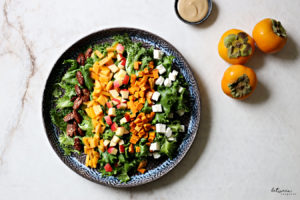 Must Make Now! Fall Salad with Persimmons and Feta