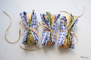 A Simple Mini Baguette, A Napkin, Some Rosemary, And Voila, Your Table Is Transformed