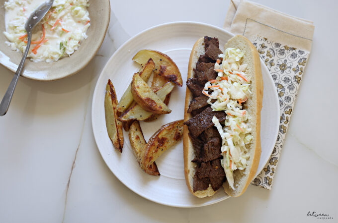 One Minute to Prep and Two Minutes to Grill = Amazing Steak Sandwiches for Dinner